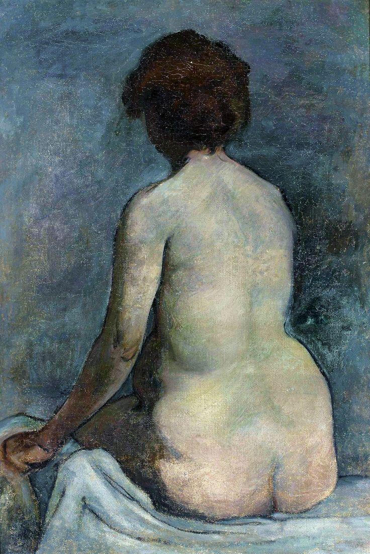 Female nude from the back by Władysław Ślewiński, ca. 1891 (PD-art/90), Muzeum Narodowe w Warszawie (MNW)