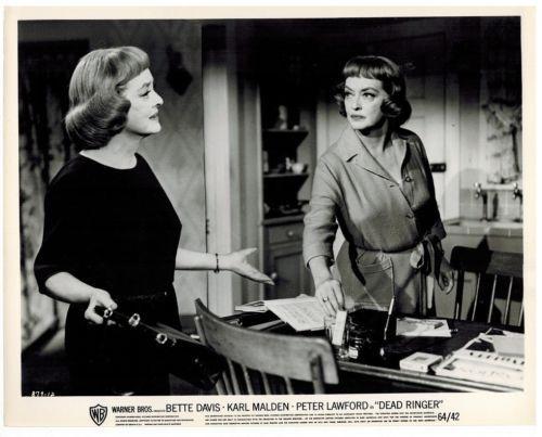 Bette Davis & Bette Davis in Dead Ringer