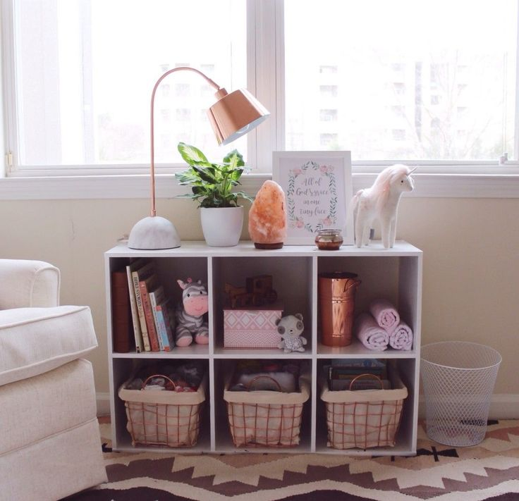 Boho Chic Nursery with Rose Gold Accents and Potted Plant in the Nursery - Project Nursery