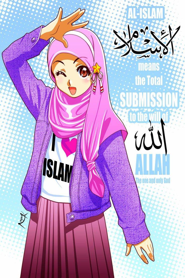 75+ Gambar Kartun Muslimah Cantik dan Imut (bercadar