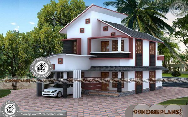 4050 House Plans With 3d Front Elevation Design 45 Modern Homes