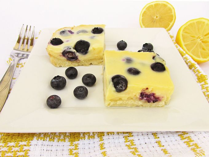 Lemon Blueberry Bars with Shortbread crust - made these for a shower yesterday n they were delicious!