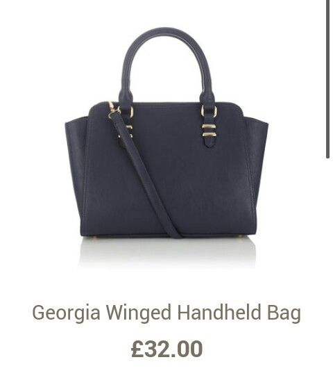 Navy winged bag :)