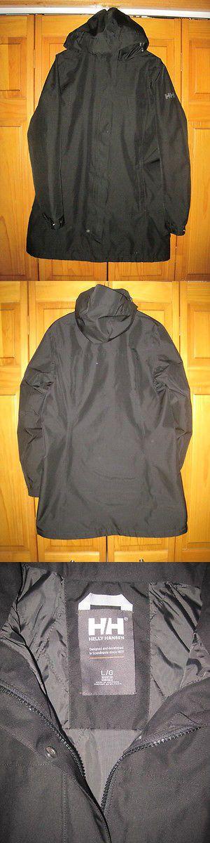 Coats and Jackets 181365: Helly Hansen Helly Tech 3 4 Waterproof Rain Jacket Women S L Black Nwot New -> BUY IT NOW ONLY: $79.99 on eBay!