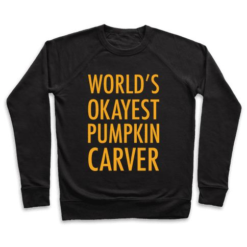 World's Okayest Pumpkin Carver Orange