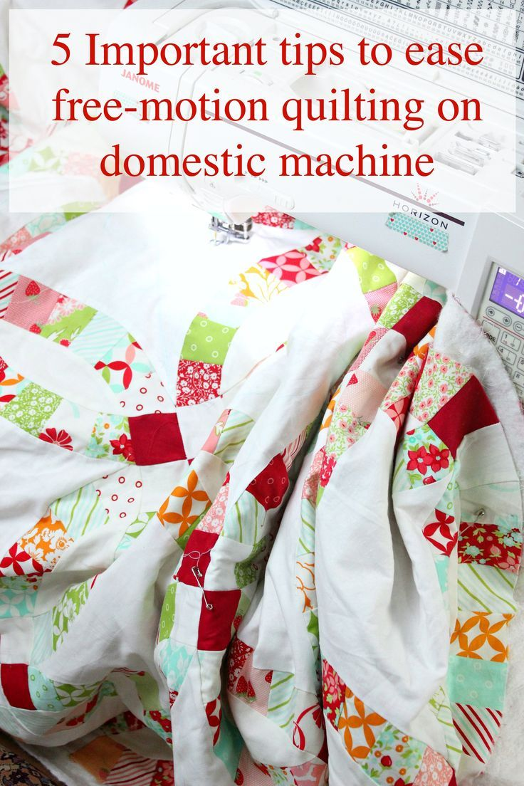 tips for free motion quilting on your own domestic machine