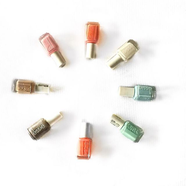 Celebrate 2016 With Color  #fashion #vogue #flatlay #onthetable #fashionflatlay #trend #photooftheday #instapic #love #style #makeup #nails #essie #pastel #white #100followers #blog