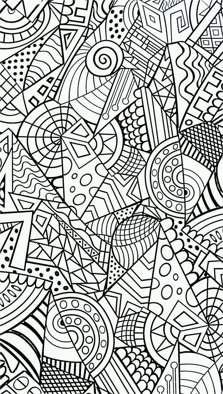 Best 25 Geometric Coloring Pages Ideas On Pinterest Adult