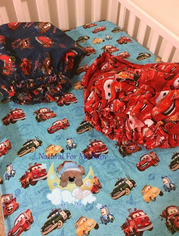 Disney Cars Fitted Crib Sheet Toddler Nursery Bedding 100%