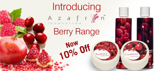 Buy Azafran Berry Range @ 10% off till May 25th