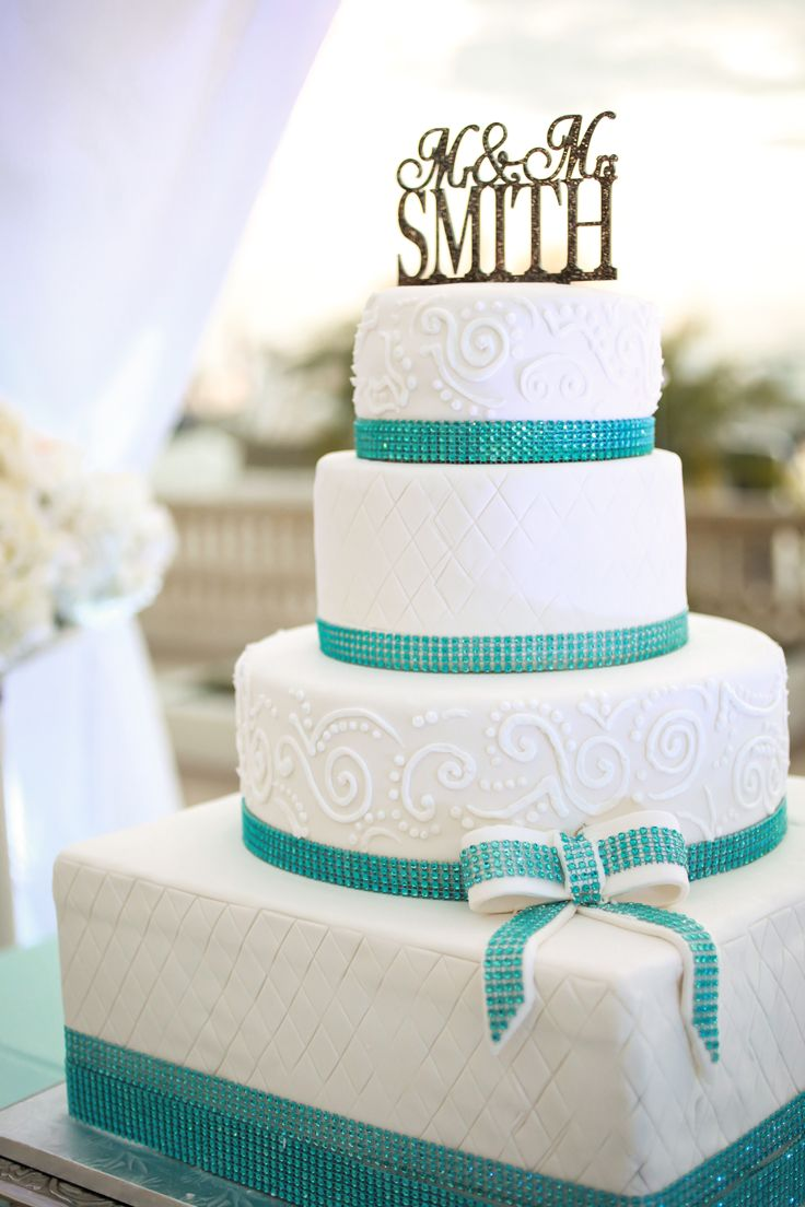 wedding bakeries in sacramento ca%0A wedding cake  square bottom with round tiers and teal rhinestone ribbon    wedding  my dream wedding came true   Pinterest   Teal  Cakes and Squares