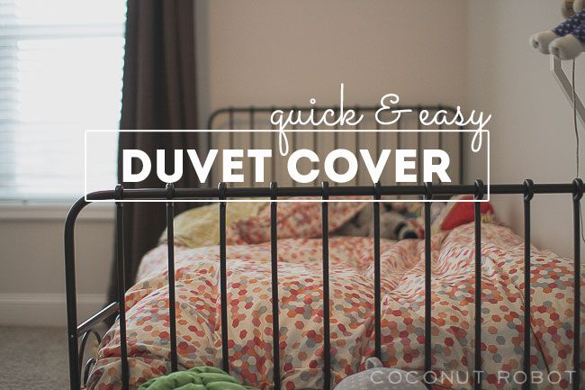 beautiful duvet cover tutorial from coconutrobot.com