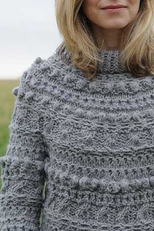 the perfect hand-knit for winter!    Interweave Knits Weekend 2011, Riot Yoke Pullover by Cathy Carron