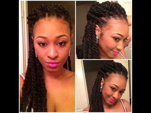 Show & Tell: Mini Havana Twists (Protective Style for Natural Hair) - YouTube