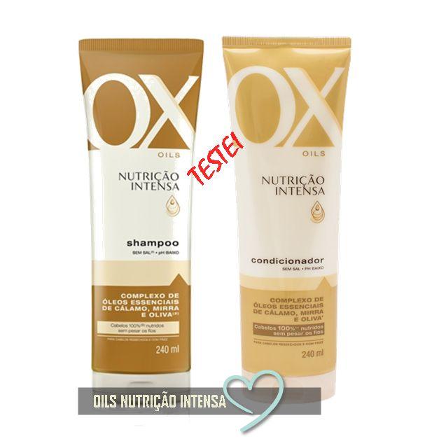 Testei o condicionador e shampoo Ox Cosmeticos. Vem ver o resultado.