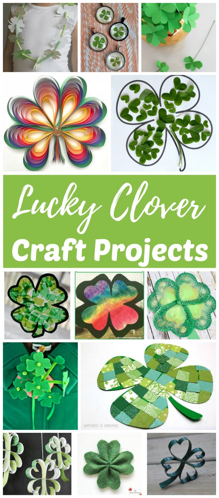 Shamrock And Four Leaf Clover Art And Craft Ideas Happy St