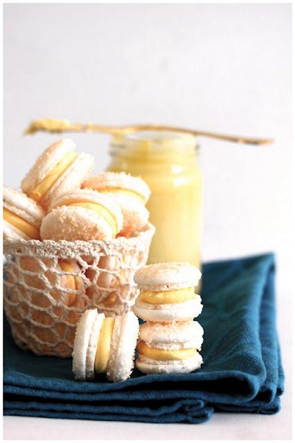 Coconut-Mango-Passionfruit Macarons