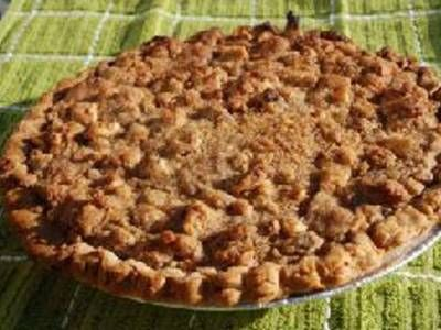 ... made-from-scratch pumpkin pie topped with a cinnamon-walnut streusel