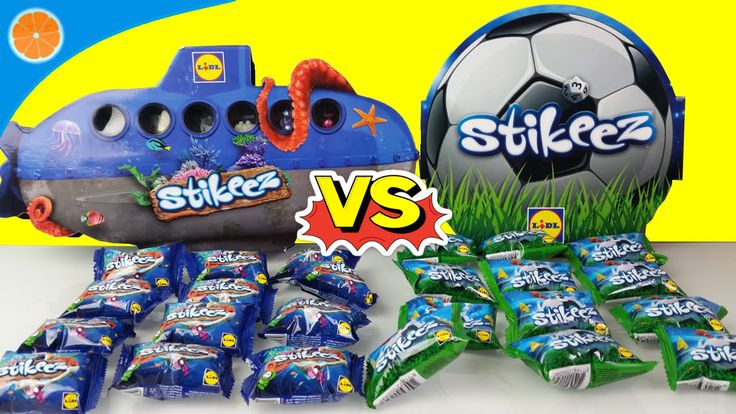 Lidl Stikeez Cup 2016 vs Stikeez 2015 | Learn Colors | Blue Orange