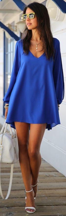 Precioso ... Azul Profundo ... Fresco ... y Para Mi ?!  Con Leggings, Por Favor !