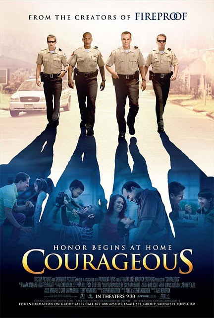 Courageous.  Great movie, especially for husbands and dads or those will be in the future!  Great for all!  One of my favorite movies!  By Sherwood.  Out on DVD 1/17/12.