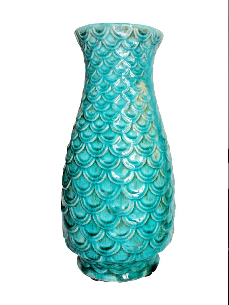 turquoise ceramic vase - Querido Homestyling Store - www.lojaquerido.com
