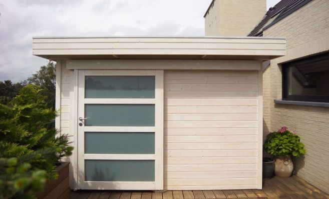 Tokyo Flat roof, contemporary garden shed