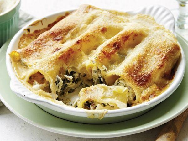 Cannelloni met spekjes, spinazie en ricotta - Libelle Lekker!