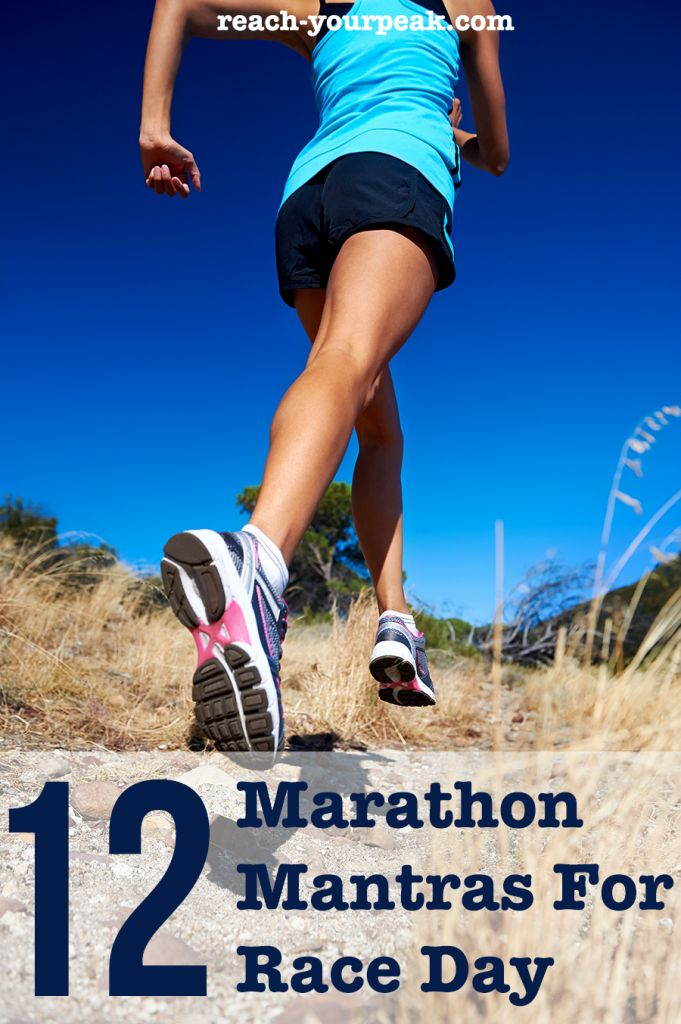 Running a marathon (or any race) soon? Check out these race day mantras to help you get to the finish line!