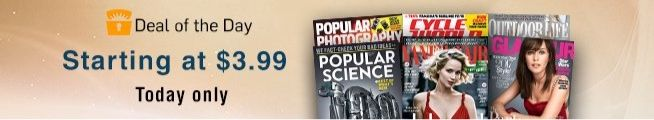 Amazon: Magazine Subscriptions as low as $3.99 ~ Up to 93% Off Newsstand **Today Only** - http://www.swaggrabber.com/?p=318613