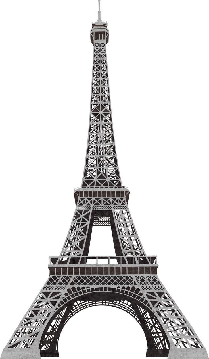 Room Mates 13 Piece Eiffel Tower Giant Wall Decal & Reviews | Wayfair