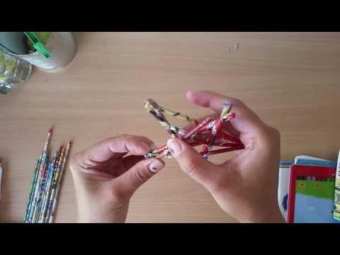 Stern aus Papier röllchen - YouTube