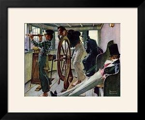 """River Pilot"", September 21,1940 Giclee Print by Norman Rockwell at Art.com"