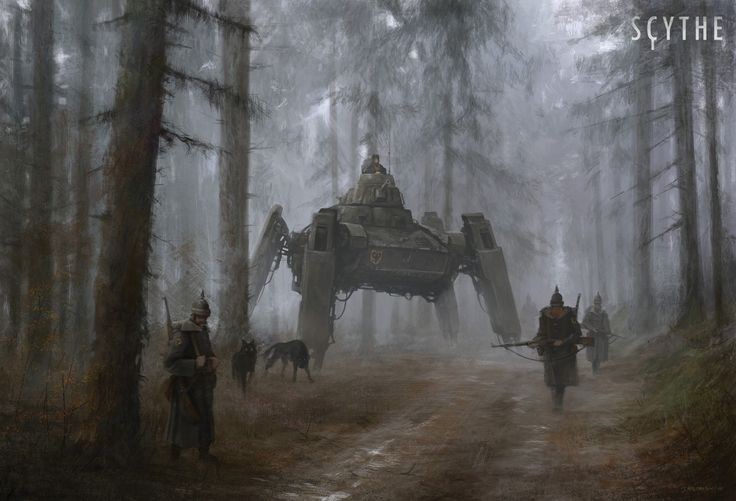 love the combination of elements, materials, different time zones and nature - by jakub rozalski