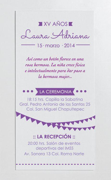 Invitación XV años