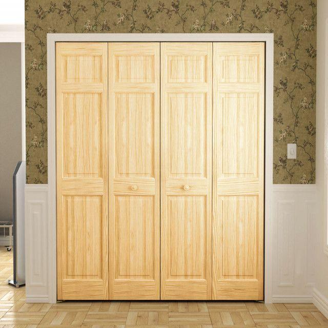 6 Panel Bifold Door 1 3 8 Thick In Pine International Door Company Bifold Doors Bifold Doors