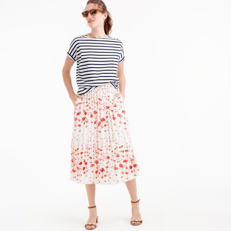 Your Summer Shopping Guide: J.Crew's flamingo print skirt ($138)
