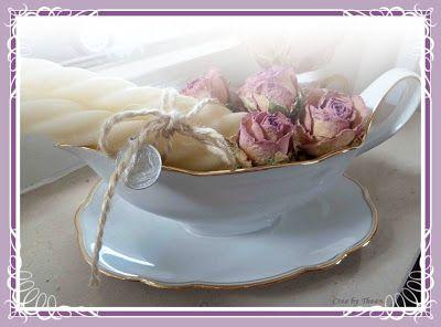 gedroogde rozen decoratie