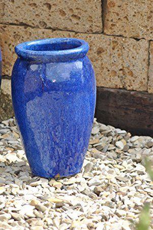 Pflanzkübel,Vase,blau,frostfest!!!!!40cm hoch