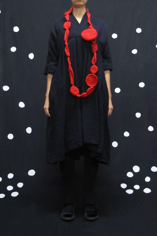 Daniela Gregis pieno e vuoto necklace - 100% wool  size unique -  color red - 196.00€