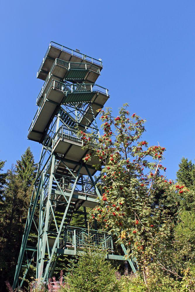Der #Aussichtsturm #Moldaublick im #Böhmerwald führt mit 137 Stufen zu grenzenlosen Weitblicken! Mehr zu Ausflugszielen im Mühlviertel unter http://www.muehlviertel.at/ausflugstipps