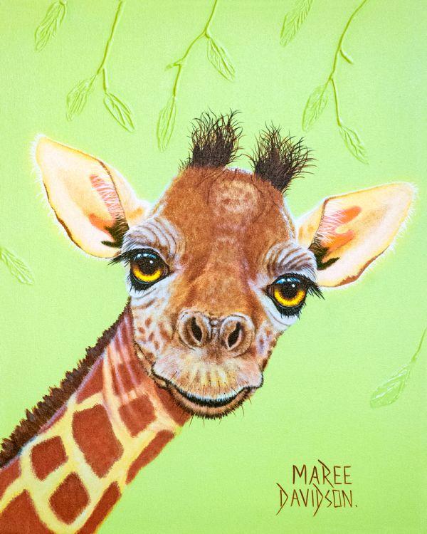 Raaf - Baby Giraffe - Giraffe Painting - Maree Davidson Art