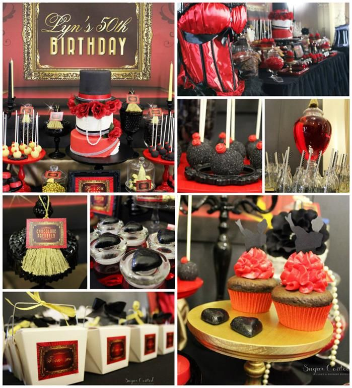 Moulin Rouge 50th Birthday Party Karas Ideas