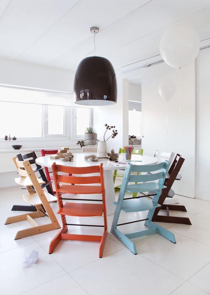 Decorabien.com Tripp Trapp, la silla que crece con el niño #tripptrapp #silla #cocina #blanco #estilo #diseño #decoracion #hogar