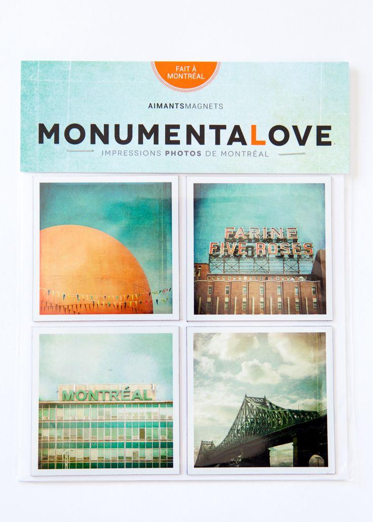 Aimants de Montréal à travers ses monuments par la designer Jane Heller. / Magnets of Montreal by it's landmarks, by designer Jane Heller with Monuentalove. http://c2m.tl/1qZYH0q   #C2MTL #Montreal #craft #design