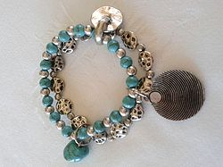 Online at Treasures to Treasure Turquoise Sungod Bracelet