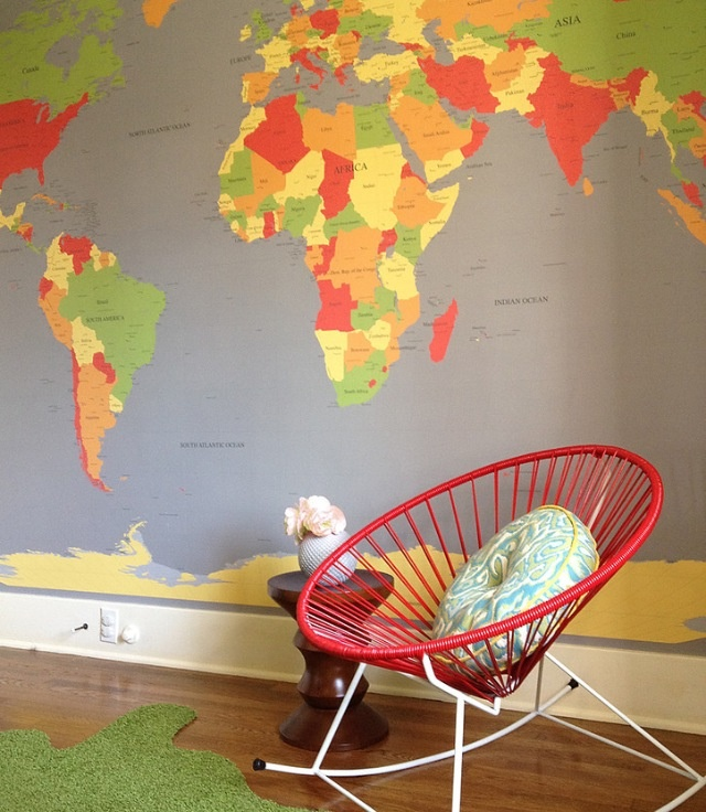 Best Map Bedroom Images On Pinterest Child Room World Maps - World map for playroom