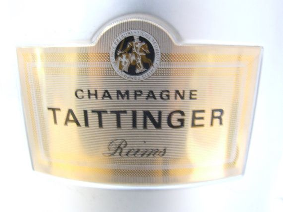 Taittinger Champagne Ice Bucket by VintageRetroOddities on Etsy