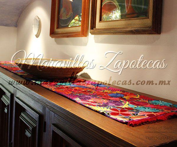 Decoraci n mexicana en tu hogar camino de mesa con for Decoracion mexicana