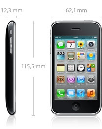 Apple iPhone 3GS smartphone (135g)